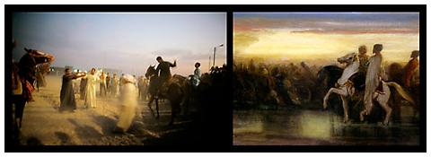 <i>The horse races, Egypt</i> 2010 Chromogenic print 20 x 57 inches; 51 x 145 cm