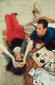Nan Goldin <I>C.Z. and Max on the beach, Truro, MA</i> 1976 Cibachrome 20 x 16 inches; 51 x41 cm