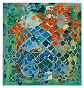 <i>Tessellation Figures (6)</i> 2011 Oil on linen 80 x 76 inches; 203 x 193 cm