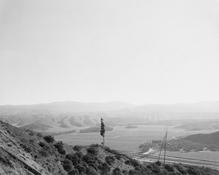 <I>San Timoteo Canyon, Redlands, California</i> 1978 Vintage gelatin silver print mounted to board Image: 9 x 11 inches; 23 x 28 cm Mount: 14 x 15 1/2 inches; 36 x 39 cm