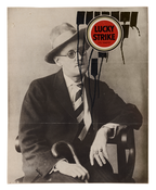 Ray Johnson <i>Untitled (James Joyce Lucky)</i> c. 1958-1960 Ink and printed paper collage on paper 9 3/8 x 7 3/8 inches; 24 x 19 cm