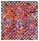 <i>Tessellation Figures (9)</i> 2011 Oil on linen 80 x 76 inches; 203 x 193 cm