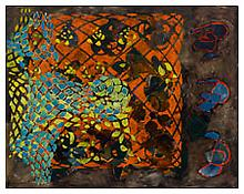 <i>Tessellation Figures</i> 2011 Oil on linen 88 x 112 inches; 224 x 285 cm
