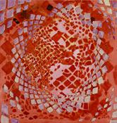 Terry Winters <i>Tessellation Figures (7)</i> 2011 Oil on linen 80 x 76 inches; 203 x 193 cm