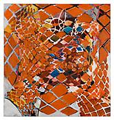 <i>Tessellation Figures (11)</i> 2011 Oil on linen 80 x 76 inches; 203 x 193 cm