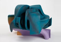 <i>Untitled</i> 2011 Gypsum cement, resin clay, acrylic paint 16 x 24 x 23 1/2 inches; 41 x 61 x 60 cm