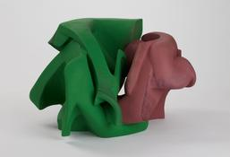 <i>Untitled</i> 2011 Gypsum cement, resin clay, acrylic paint 14 1/2 x 24 x 21 1/2 inches; 37 x 61 x 55 cm