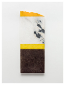 <i>For Blinky</i> 2011    Oil and graphite on marble       29 3/4 x 11 5/8 inches; 76 x 30 cm