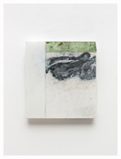 <i>Swirl</i> 2011    Oil and graphite on marble       10 5/8 x 9 3/4 inches; 27 x 25 cm