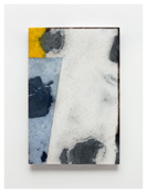 <i>#10</i>  2011    Oil and graphite on marble       23 5/8 x 15 3/4 inches; 60 x 40 cm