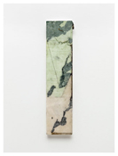 <i>Joined</i> 2011    Oil and graphite on marble       26 3/4 x 6 5/8 inches; 68 x 17 cm