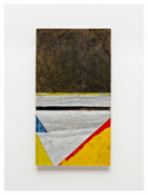<i>View</i> 2011    Oil and graphite on marble       31 1/2 x 17 3/8 inches; 80 x 44 cm