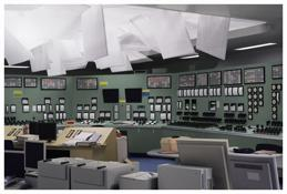 <i>Kontrollraum / Control Room</i> 2011 C-print mounted on plexiglas 78 3/4 x 118 1/8 inches; 200 x 300 cm