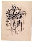 Willem de Kooning <i>Untitled  (Woman)</i> c. 1950-53 Graphite on paper 12 x 9 1/4 inches; 31 x 24 cm