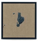Paul Sietsema <i>Coin toss 7</i> 2011 Enamel on canvas 18 x 17 3/8 inches; 46 x 44 cm