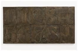 <i>Numbers (0-9) 1</i> 2011 Bronze 19 3/8 x 37 3/8 x 1 1/2 inches; 49 x 95 x 4 cm