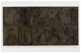<i>Numbers (0-9) 2</i> 2011 Bronze 19 3/8 x 37 3/8 x 1 1/2 inches; 49 x 95 x 4 cm