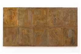 <i>Numbers (0-9) 3</i> 2011 Bronze 19 3/8 x 37 1/2 x 1 inches; 49 x 95 x 3 cm