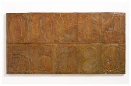 <i>Numbers (0-9) 4</i> 2011 Bronze 19 3/8 x 37 1/2 x 1 1/8 inches; 49 x 95 x 3 cm