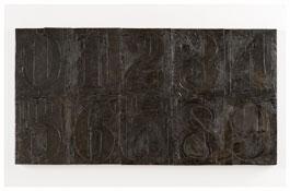 <i>Numbers (0-9) 5</i> 2011 Bronze 19 1/2 x 37 3/8 x 1 1/8 inches; 50 x 95 x 3 cm