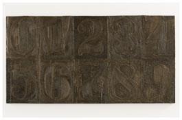 <i>Numbers (0-9) 6</i> 2011 Bronze 19 1/2 x 37 3/8 x 1 1/8 inches; 50 x 95 x 3 cm