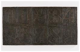 <i>Numbers (0-9) 7</i> 2011 Bronze 19 3/8 x 37 5/8 x 1 inches; 49 x 96 x 3 cm