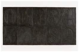 <i>Numbers (0-9) 8</i> 2011 Bronze 19 3/8 x 37 1/2 x 1 1/8 inches; 49 x 95 x 3 cm