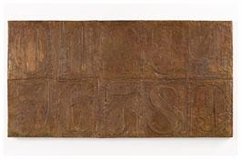 <i>Numbers (0-9) 9</i> 2011 Bronze 19 1/2 x 37 3/8 x 1 inches; 50 x 95 x 3 cm