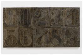<i>Numbers (0-9) 10</i> 2011 Bronze 19 3/8 x 37 1/2 x 1 inches; 49 x 95 x 3 cm