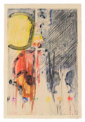 <i>Untitled</i> 2012 Watercolor and crayon monotype 42 x 28 3/4 inches; 107 x 73 cm