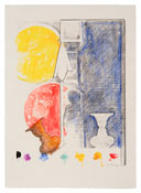 <i>Untitled</i> 2012 Watercolor and crayon monotype 44 1/2 x 32 inches; 113 x 81 cm