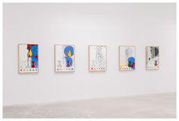 <i>5 Postcards</i> 2011 Encaustic on canvas
