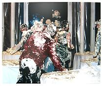 Alexej Koschkarow <i>Tortenschlacht</i> 2003 C-print mounted on aluminum 49 x 59 inches; 24 x 150 cm