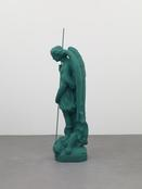 Katharina Fritsch <I>Heiligenfigur (St. Michael) / Figure of a Saint (St. Michael)</i> 2008 Polyester, paint 66 1/2 x 26 x 22 1/2 inches; 169 x 66 x 57 cm