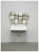 <i>Untitled</i> 2012 Plaster, beeswax, human hair, epoxy putty, enamel paint 44 1/2 x 43 x 23 inches; 113 x 109 x 58 cm