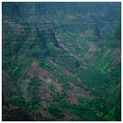 <i>Fullmoon@Waimea Canyon</i> 2012 C-print face mounted onto Perspex 70 3/4 x 70 3/4 inches; 180 x 180 cm