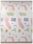 <i>Untitled</i> 1979-2009 Hand-printed silkscreen on paper 132 x 51 inches (split across two panels); 335 x 130 cm
