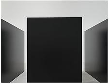 "Detail of <i>Maze</i> 1967 Steel, painted black Two units: 6'8"" x 10' x 30"", 203 x 305 x 76 cm Two units: 6'8"" x 5' x 30"", 203 x 152 x 76 cm"