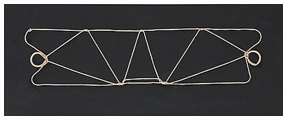 Harry Smith <i>String Figures</i> ca. 1970 One of 18 collages on board  7 3⁄4 x 20 inches 20 x 51 cm