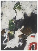 Richard Aldrich  <i>Painting with Unicorn</i> 2010-2011 Oil and wax on panel  20 x 15 inches, 50.8 x 38.1 cm