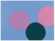 <i>Blue Skies</i> 2013 Enamel on aluminum 44 7/8 x 60 inches; 114 x 153 cm