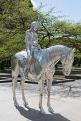 <I>Horse and Rider</i> 2014 Solid stainless steel 109 1/2 x 40 x 105 7/8 inches 278 x 102 x 269 cm