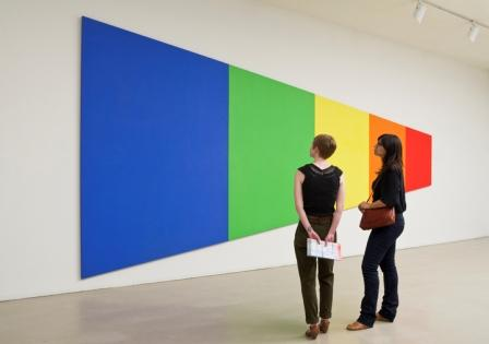 Ellsworth Kelly&#039;s &lt;i&gt;Blue Green Yellow Orange Red&lt;/I&gt;, 1968, is part of the &quot;Ellsworth Kelly: Wood Sculpture&quot; exhibition at Boston&#039;s Museum of Fine Arts. Read more about the exhibition &lt;a href=&quot;http://www.mfa.org/exhibitions/ellsworth-kelly&quot;&gt;here.&lt;http://www.mfa.org/exhibitions/ellsworth-kelly&gt; &lt;/a&gt;