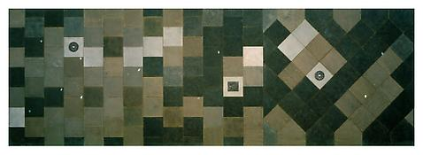 <i>Bürgersteig / Sidewalk</i> 1998 Epoxy resin, sand and aluminum 244 x 83 inches; 620 x 210 cm