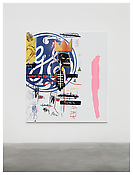 <i>MoM Block Nr. 55</i> 1999 Silkscreen and acrylic on canvas 78 3/4 x 70 3/4 inches; 200 x 180 cm