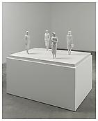 <i>Hostessen</i> 2012 Painted aluminum Sculpture: 22 3/8 x 42 1/2 x 59 inches; 57 x 108 x 150 cm Pedestal: 30 1/2 x 45 x 61 inches; 78 x 155 x 114 cm
