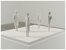 Detail of <i>Hostessen</i> 2012 Painted aluminum Sculpture: 22 3/8 x 42 1/2 x 59 inches; 57 x 108 x 150 cm Pedestal: 30 1/2 x 45 x 61 inches; 78 x 155 x 114 cm