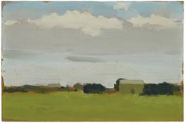 <i>Farm Landscape</i> c. 1970 Oil on board 7 x 10 1/8 inches; 18 x 26 cm