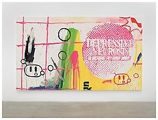 <i>depressive neurosis</i> 2000 Acrylic on cotton 102 1/4 x 177 inches; 260 x 450 cm