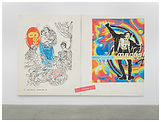 <i>o.T. (69)</i> 1994 Acrylic on cotton Two panels, each: 119 1/4 x 93 1/4 inches; 303 x 237 cm overall: 238 1/2 inches x 186 1/2 inches; 474 x 606 cm